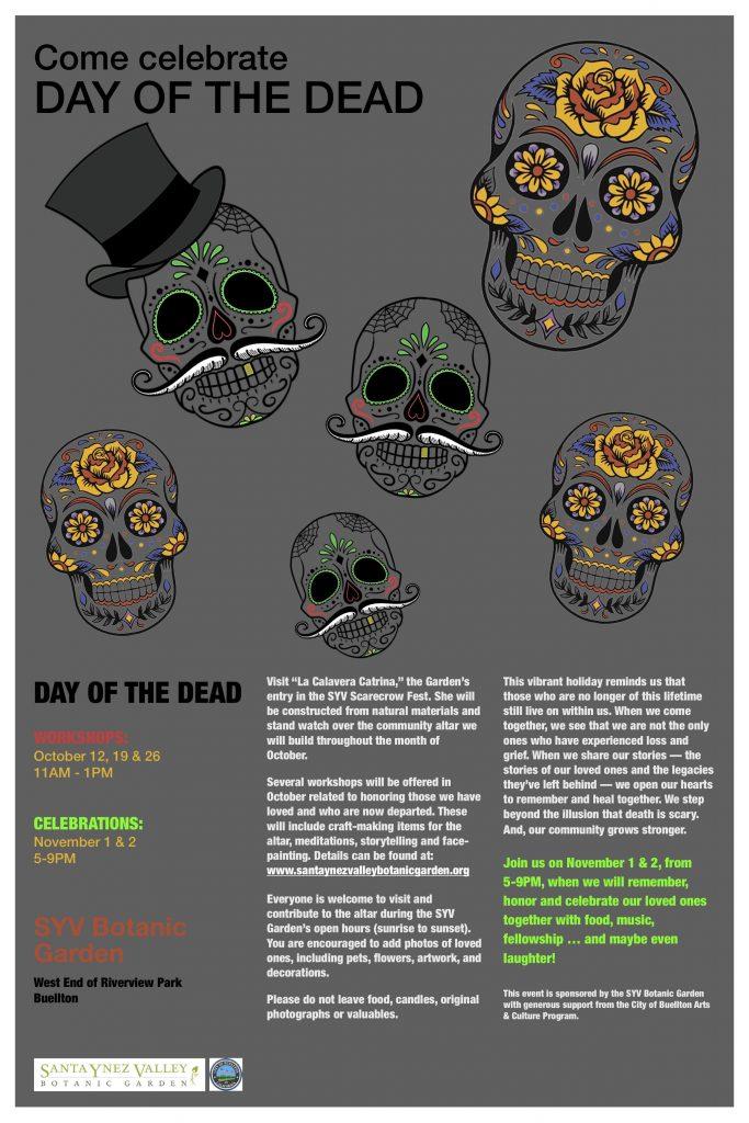 SYV Botanic Garden Day of the Dead Flyer